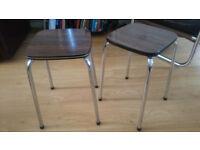 Pair of original vintage Tavo stools - retro