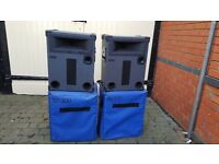 PA Toa 300SD speakers - 4 x speakers with stands and covers - free local delivery or courier at cost