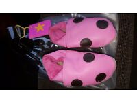 Gorgeous 'Starchild' pink leather baby shoes 0-6 months