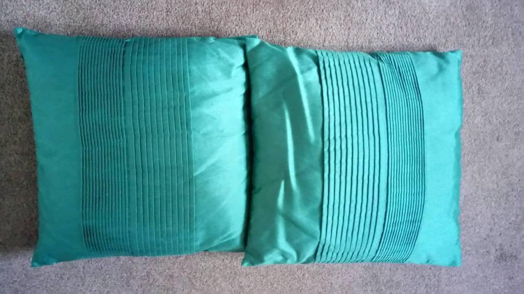 Teal Green Cushions