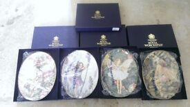 4X BOXED ROYAL WORCESTER FAIRY PLATES
