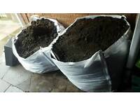 2 tonne bags of soil Free to collector