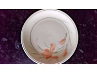 Medium Beige Floral 17cm Plate Brand New