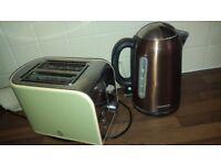 Kettle & Toaster - Used - SWAN Toaster & KENWOOD Kettle.