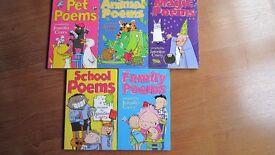 "SET OF 5 CHILDREN'S BOOKS "" FUNNY POEMS """