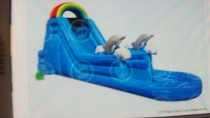 Commercial inflatable waterslide