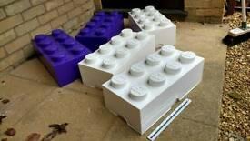 Set of 5 stacking Lego storage boxes