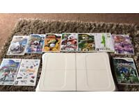 Wii fit balance board and 10 games