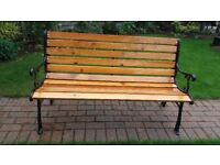 BEAUTIFUL GARDEN BENCH WITH CAST IRON ENDS