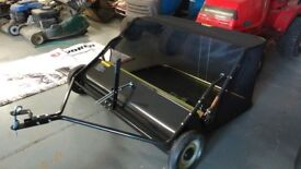 Towed Lawn Sweeper leaf collector tidier than blower