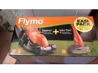 fly out lawnmower and trimmer