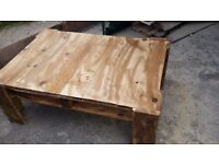 Rustic handmade coffee table old look/weathered