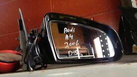 AUDI A4 2.0 DIESEL 2006 DRIVER SIDE DOOR MIRROR