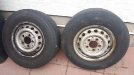 "(99-06) 15""sprinter wheels & great tyres. 225/70/15. (More sprinter parts too) £45 each or 2 for £80"