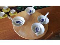 Set of Four Oriental Soup Bowls