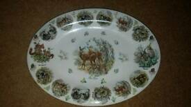 Large British Bone China Serving Plate