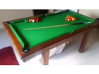 6ft Pool Snooker and dining table