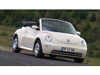 VW Beetle Convertible/Cabriolet 1.9 TDi, FSH, One Owner, Timing Belt
