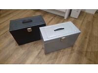 2 x Metal Filing Boxes