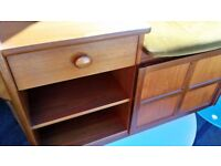 Retro telephone style retro teak cabinet with draw and strongest draw can deliver