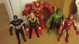 Hulk Buster and Avengers interactive toys