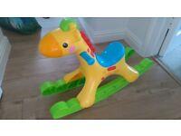 Toddler rocking 'horse' giraffe