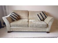 Stamford sofa set Sherlock Plain Wheat colour - 3 seater and single love seat snunggler