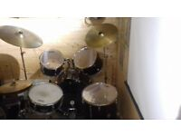 CB Drum Kit with Evans Skins and Mute Pads
