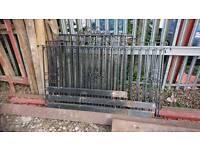 Steel railings and gate