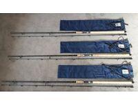 3 Carp fishing rods
