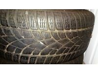 2 Dunlop SP Winter Sport 3D tyres – (215/55 r16 93h). ALMOST NEW, BARGAIN PRICE!