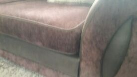 Brown dfs corner sofa