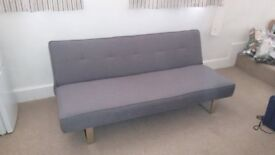 Sofa bed - dark grey, 3 yrs old, v.good condition, collection only. Fire resistant.