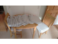 Brand New 6 Ikea striped Ingolf dining/kitchen chair pads covers!