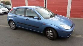 2002 Ford Focus hatchback 1.6 blue full service history