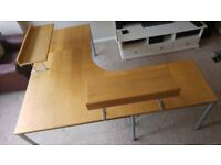 office desk 3 sections multiple combinations