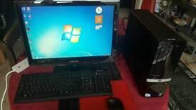 FAST HP Slim Tower Computer PC Intel Core 2 Duo 2.8GHz 3GB 300 GB Win 7