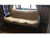 Metal Futon/Double sofa bed -Good Cond free to collector