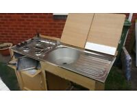 Gas Hob and Sink Unit