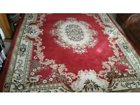 Large Red and Cream rug 240x320