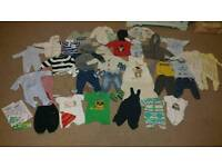 Large selection of baby boy clothes 0-3 3-6 6-9 9-12 months