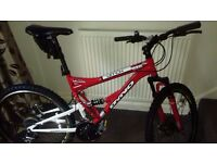 Dyno ditch men's full suspension trail mountain bike.