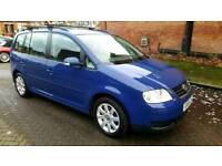 2006 Volkswagen Touran AUTOMATIC DIESEL 12MO MOT 7 SEATER FULL SERVICE STUNNING CONDITION CHEAP CAR