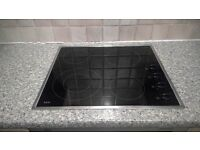 AEG Ceramic Black Glass Hob (Model 6010 K) - Excellent, Clean Condition, Fully Operational