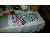 Card making bundle with heat tool for embossing