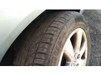 VW Passat Audi A4 Skoda 5x112 Genuine 16'' alloy wheels with tyres 215/55/16