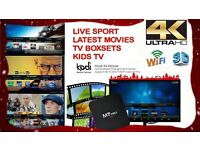 Android Tv Box with Latest Kodi installed with all popular add ons! GREAT XMAS GIFT!