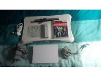 wii + Wii plus game and board with and extra game