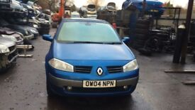 2004 Renault Megane Dynamique Dci 100 3dr Hatchback 1.5L Diesel Blue BREAKING FOR SPARES