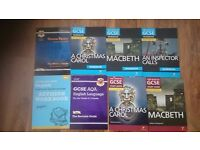 GCSE english literature and english language work&revision books